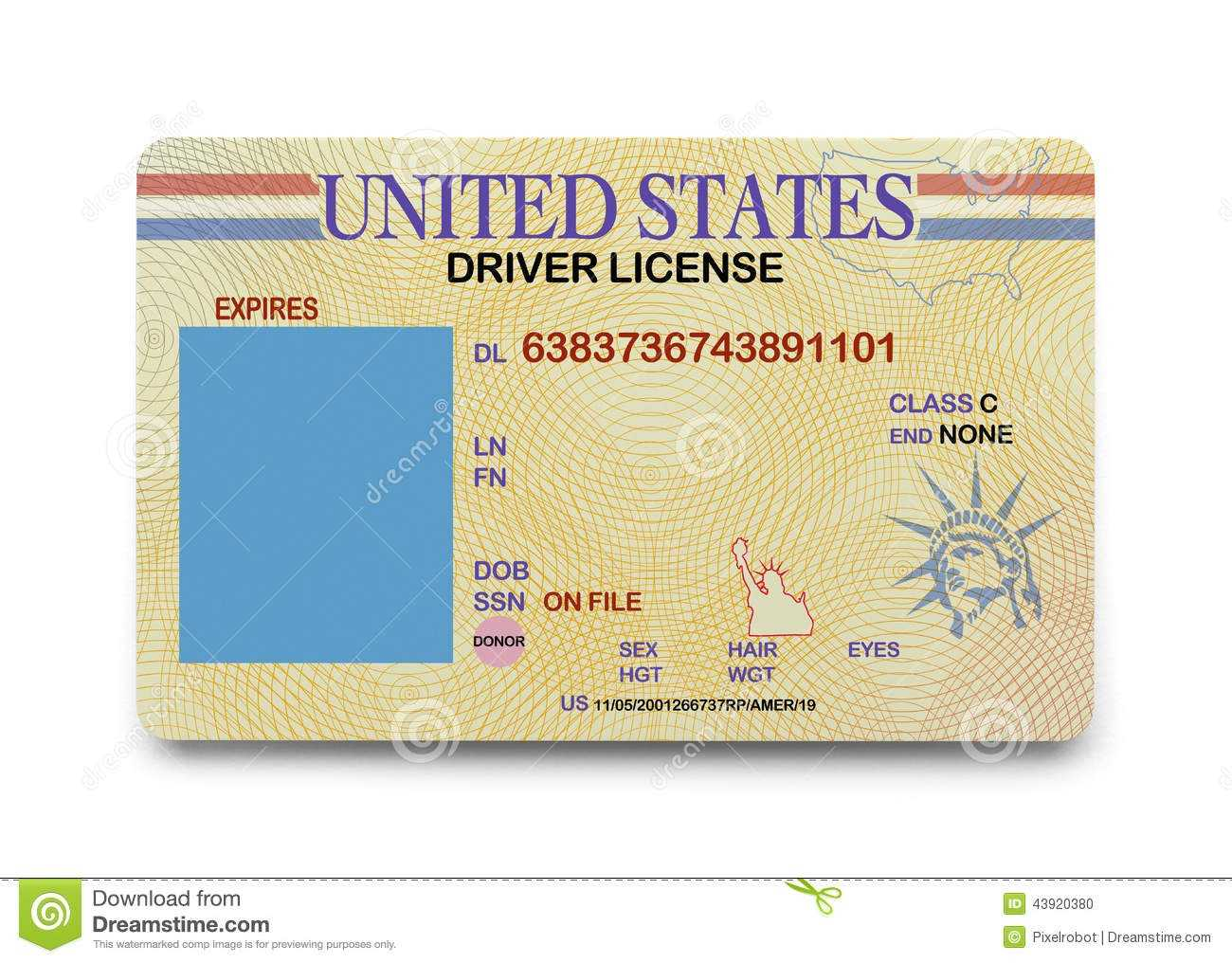 0C39C0 California Driver License Template | Wiring Library Throughout Blank Drivers License Template