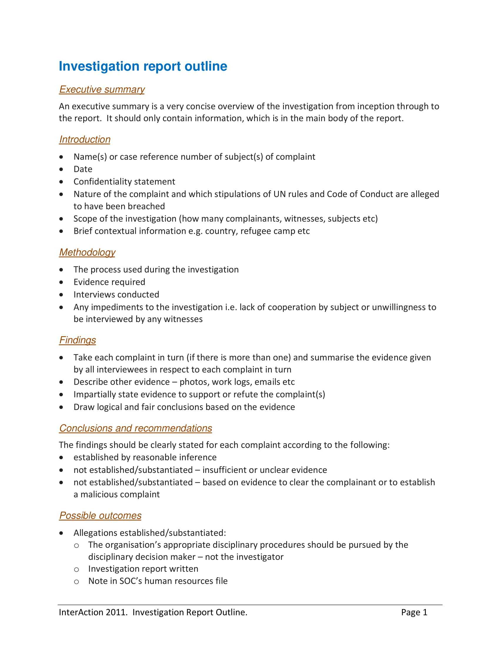 10+ Workplace Investigation Report Examples - Pdf   Examples Inside Workplace Investigation Report Template