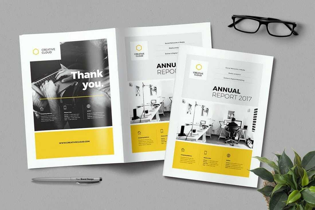20+ Annual Report Templates (Word & Indesign) 2018 – Web With Annual Report Template Word