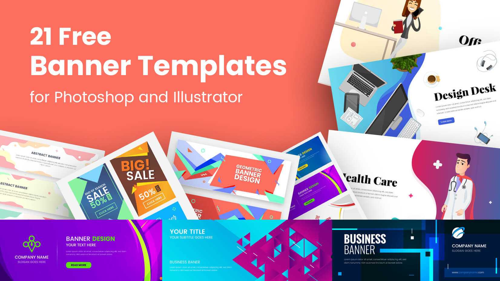 21 Free Banner Templates For Photoshop And Illustrator With Adobe Photoshop Banner Templates
