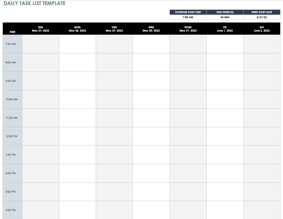 30+ Free Task And Checklist Templates   Smartsheet With Daily Task List Template Word