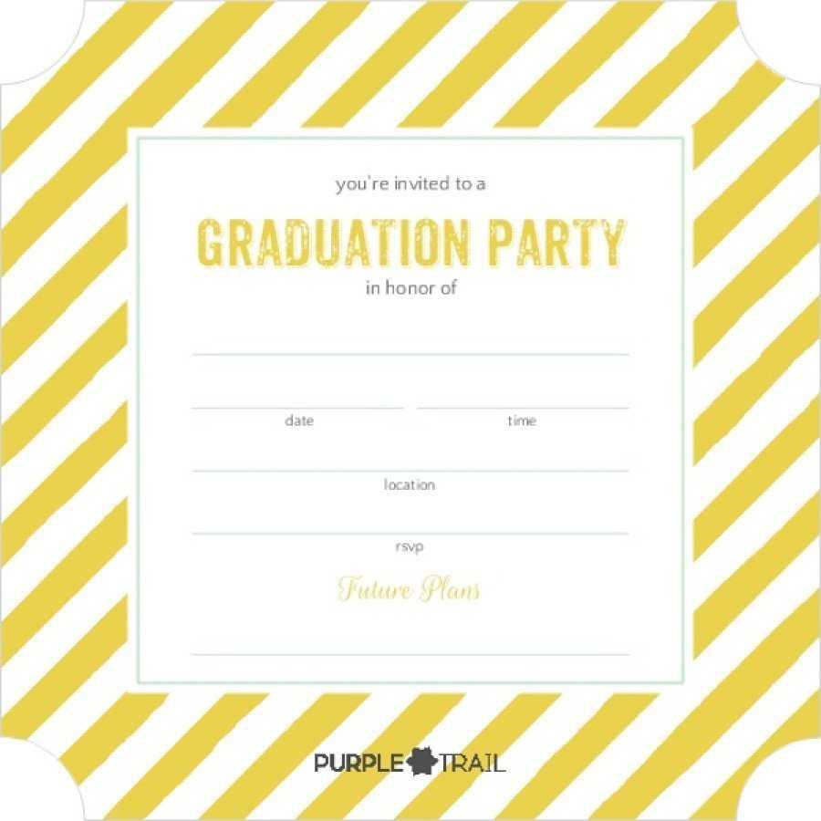 40+ Free Graduation Invitation Templates ᐅ Templatelab In Graduation Party Invitation Templates Free Word