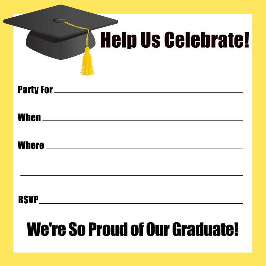 40+ Free Graduation Invitation Templates ᐅ Templatelab Regarding Graduation Party Invitation Templates Free Word