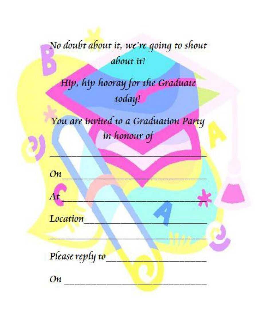 40+ Free Graduation Invitation Templates ᐅ Templatelab With Graduation Party Invitation Templates Free Word