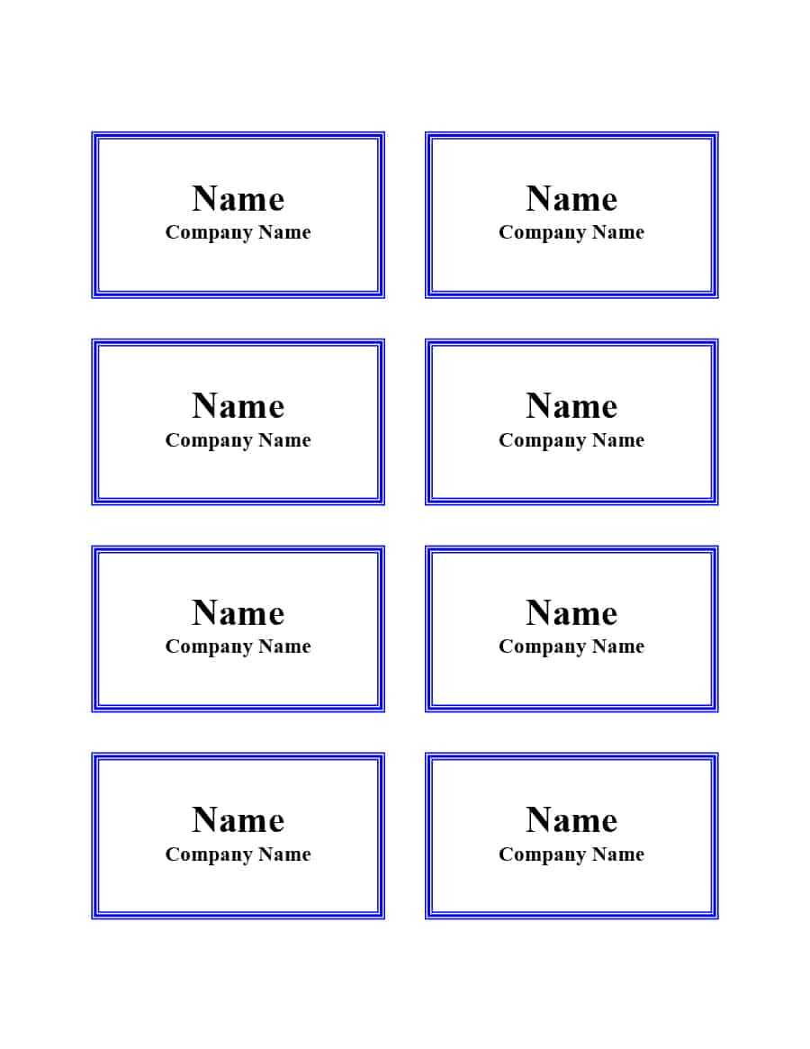 47 Free Name Tag + Badge Templates ᐅ Templatelab Pertaining To Visitor Badge Template Word