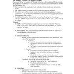 Ap Biology Formal Lab Report Format for Formal Lab Report Template
