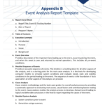 Appendix B - Event Analysis Report Template inside Reliability Report Template