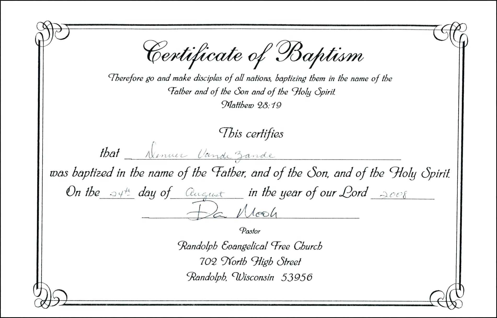 Baby Christening Certificate Template – Great Sample Templates With Baptism Certificate Template Word