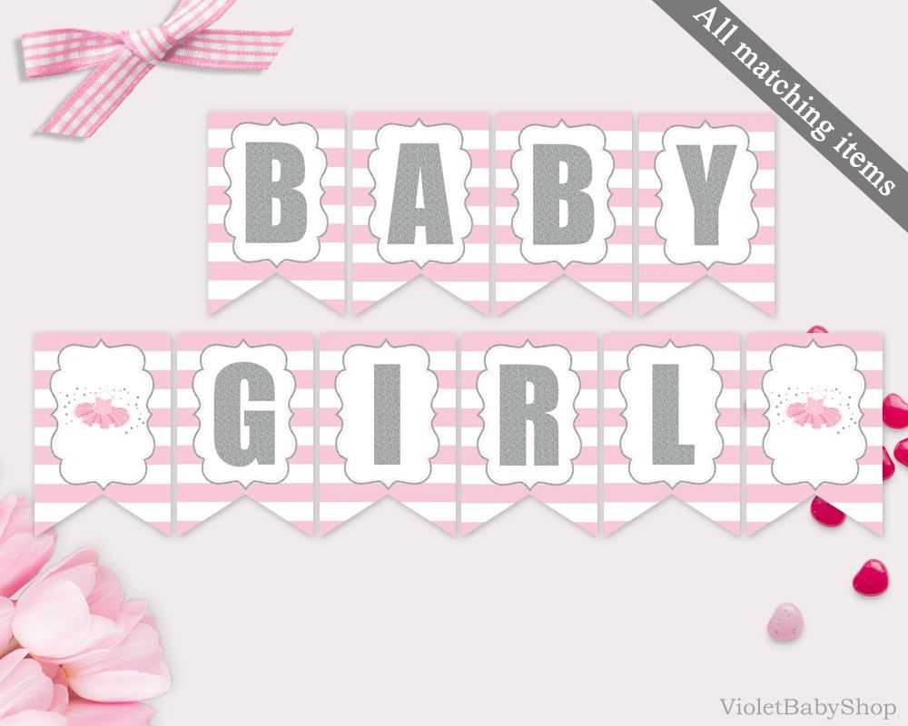 Baby Shower Banner Clipart Throughout Diy Baby Shower Banner Template