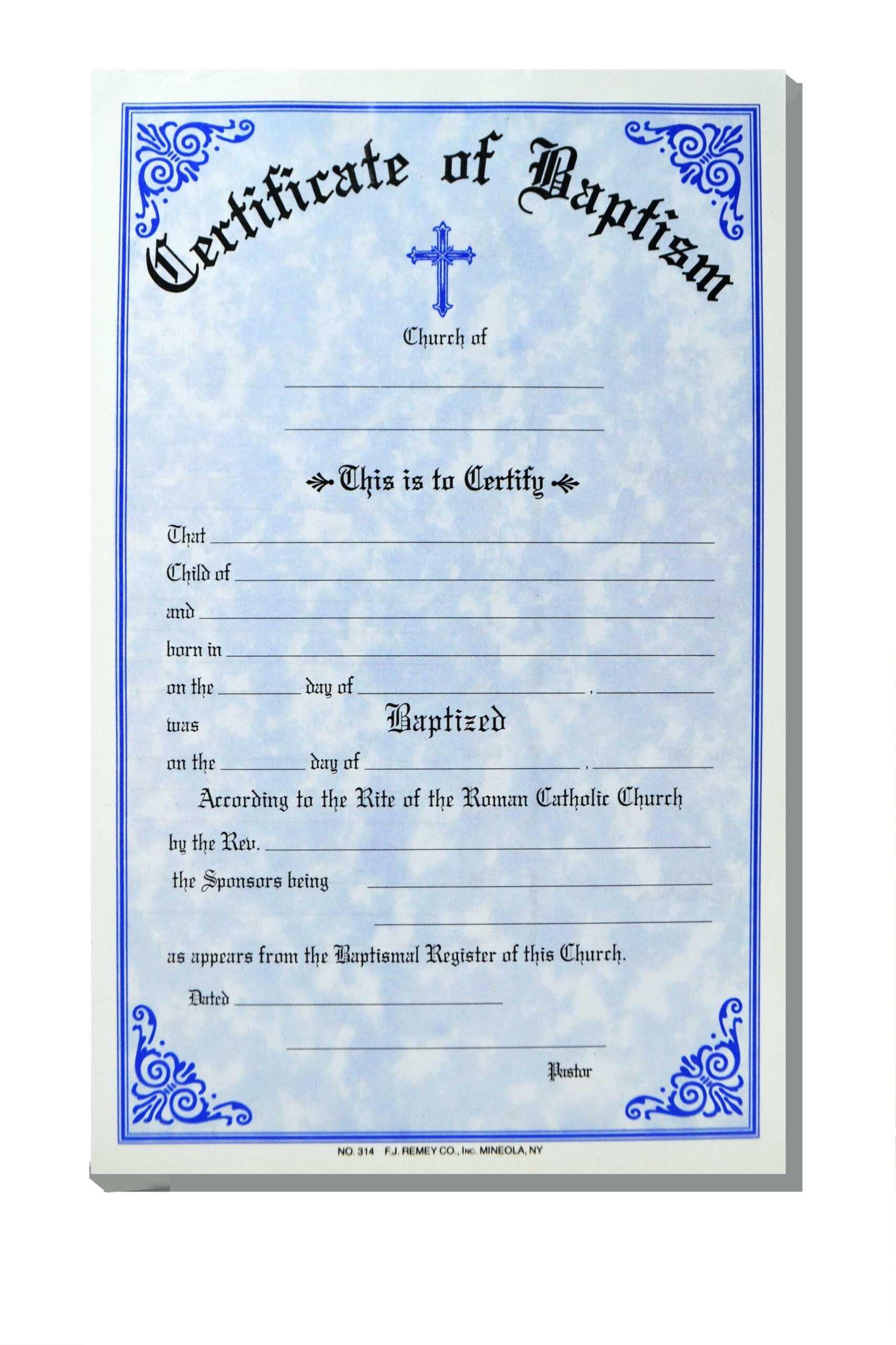 Baptism Certificate Template Word – Heartwork With Baptism Certificate Template Word
