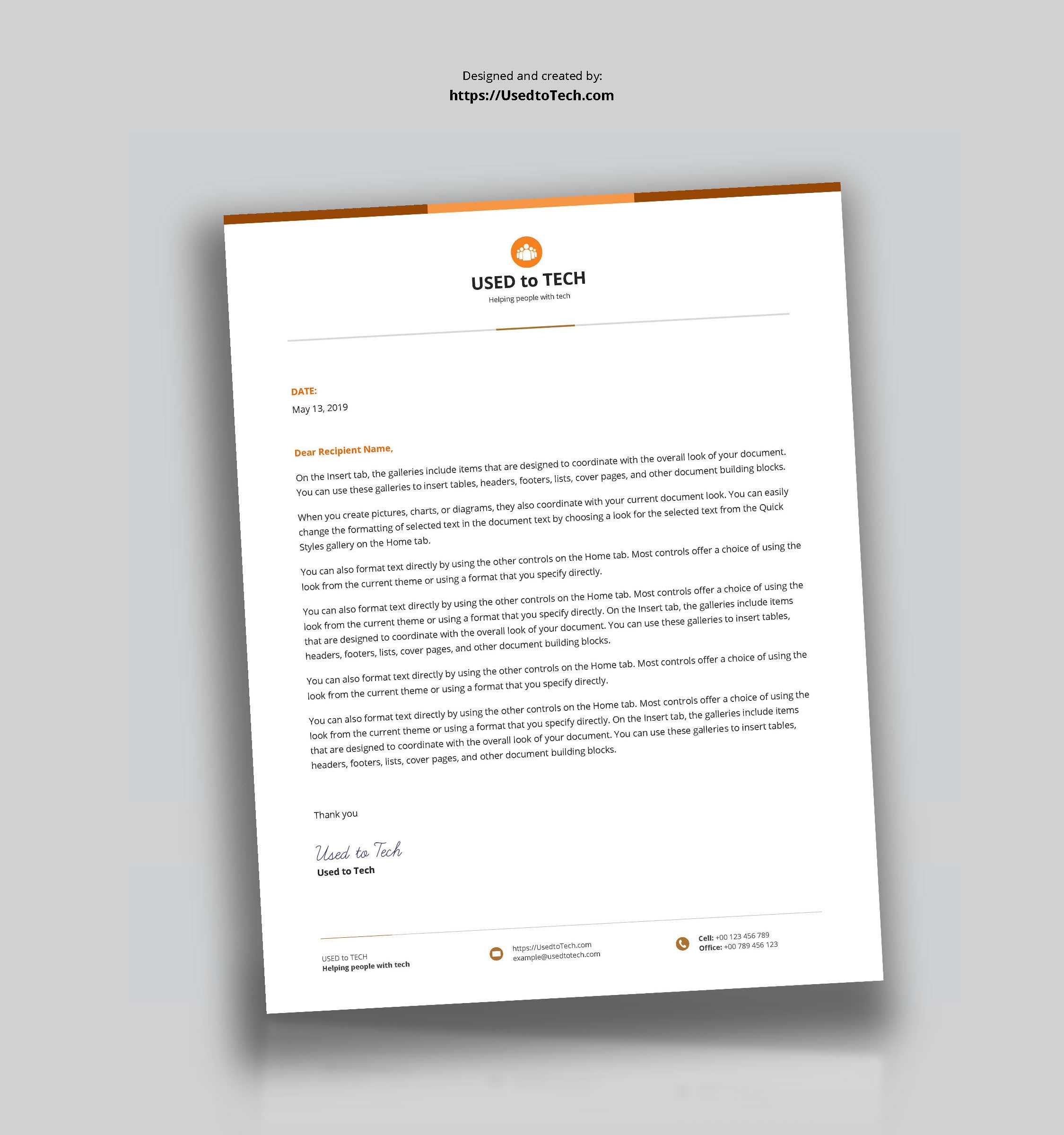 Best Letterhead Design In Microsoft Word – Used To Tech Inside Word Stationery Template Free