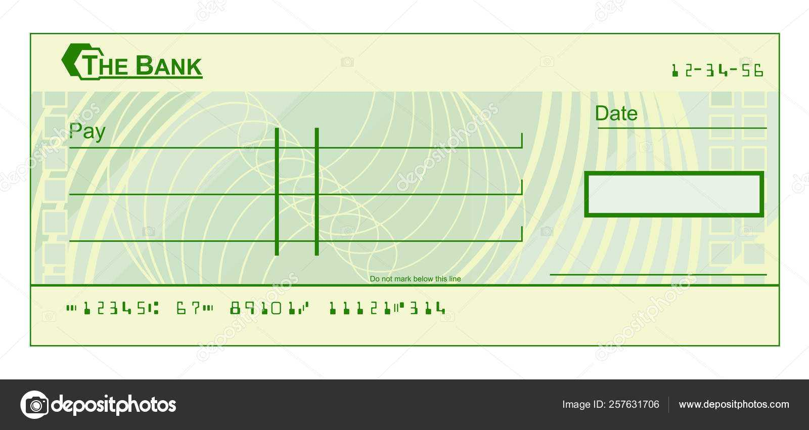 Blank Cheque Graphic — Stock Vector © Krisdog #257631706 Within Blank Cheque Template Download Free