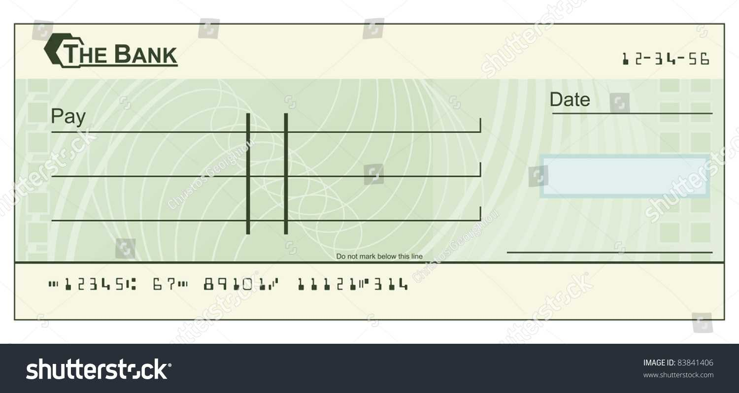 Blank Cheque Images, Stock Photos & Vectors   Shutterstock In Blank Cheque Template Download Free