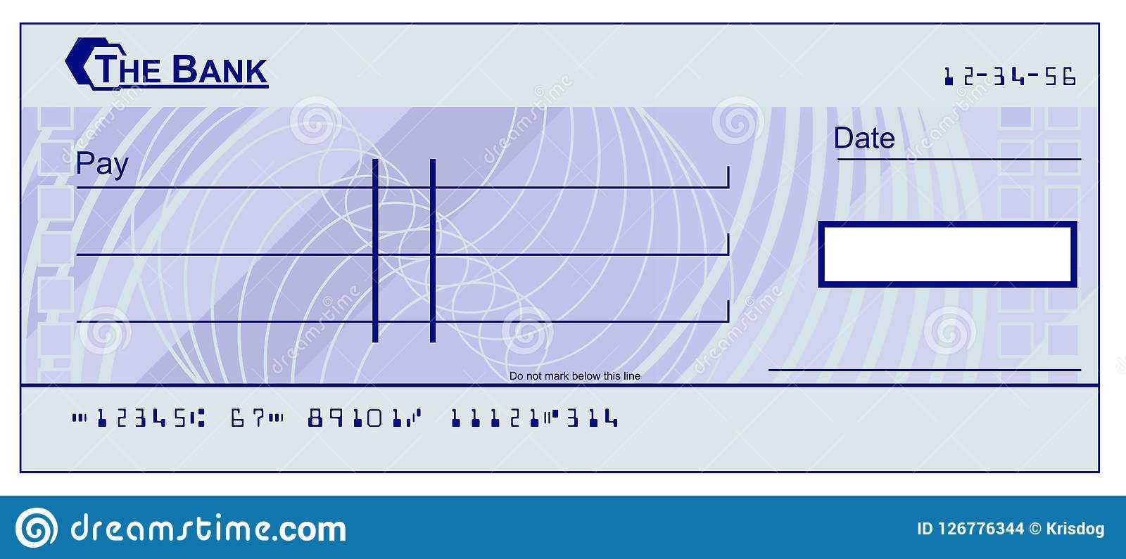 Blank Cheque Stock Vector. Illustration Of Finance, Blank Within Blank Cheque Template Download Free