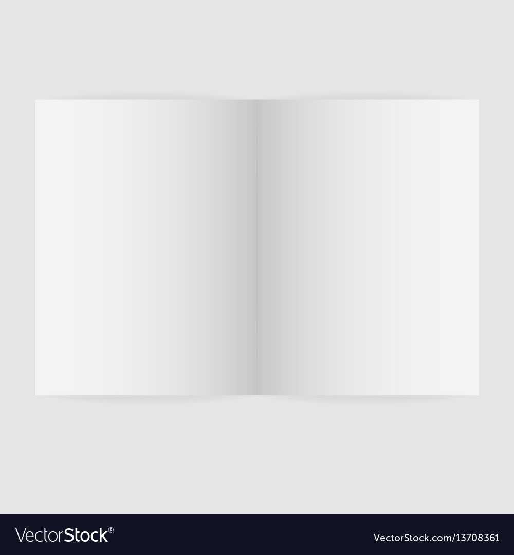 Blank Magazine Spread Template Inside Blank Magazine Spread Template