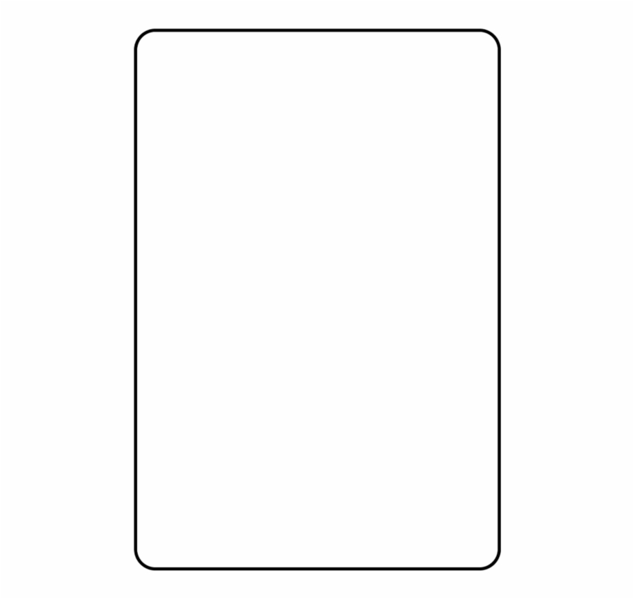 Blank Playing Card Template Parallel – Clip Art Library Regarding Blank Playing Card Template