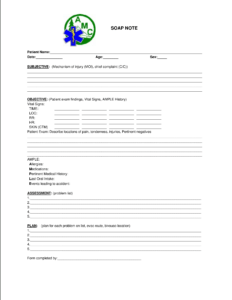 Blank Soap Note | Templates At Allbusinesstemplates regarding Blank Soap Note Template