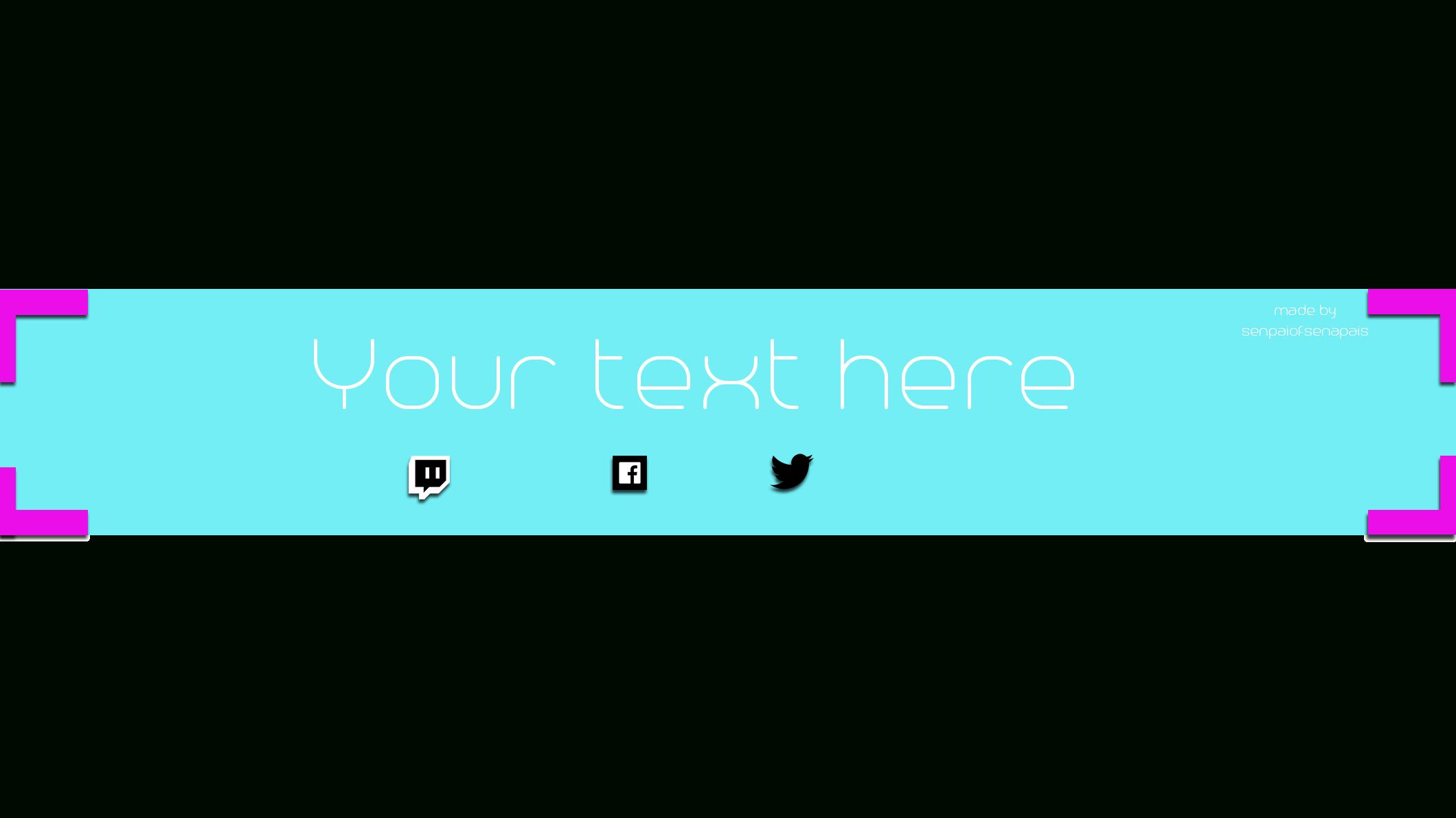 Box Shadow #1 [Yt Banner Template]Senpaiofsenpais On Throughout Yt Banner Template