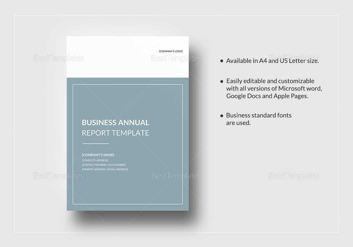 Business Annual Report Template In Annual Report Template Word