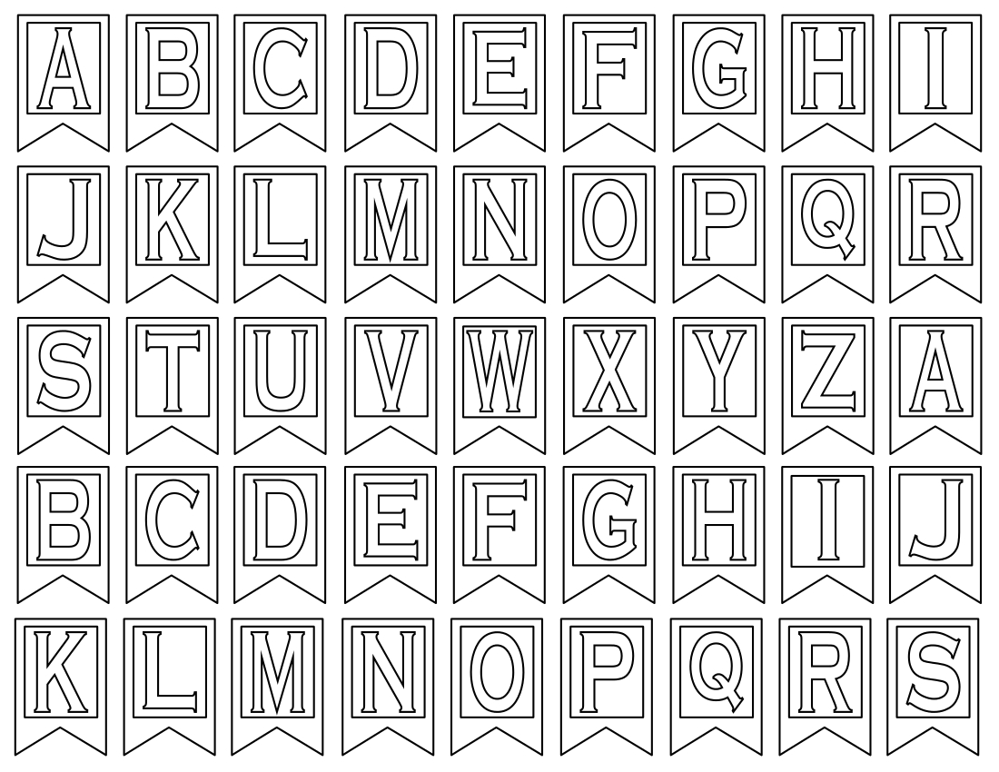 Clipart Letters For Banners Regarding Letter Templates For Banners