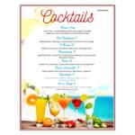 Cocktail Drinks Menu Template Free 239534 - Cocktail Menu with Cocktail Menu Template Word Free