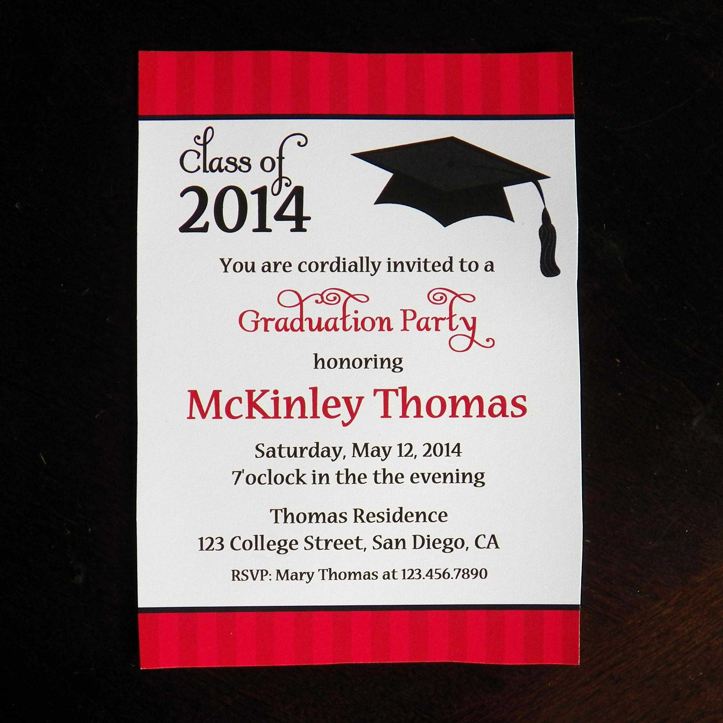 College Graduation Party Invitations Templates – Party With Graduation Party Invitation Templates Free Word