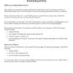 Construction Job Site Incident Report Form | Templates At pertaining to Incident Report Form Template Qld