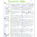 Cornell Notes Example 4: Double Entry Journal With Double Entry Journal Template For Word