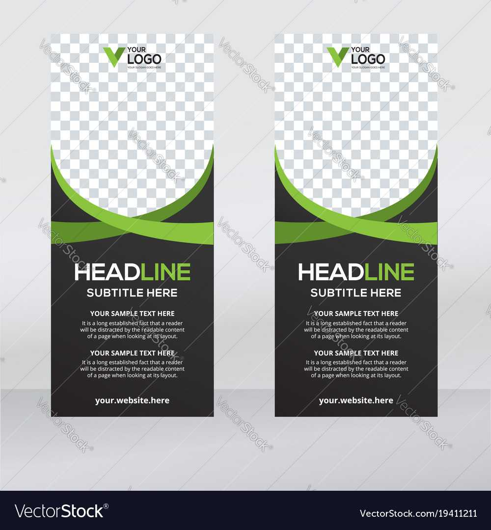 Creative Roll Up Banner Design Template With Regard To Pop Up Banner Design Template