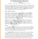 Data Analysis Report Template And 9 Executive Summary Report With Regard To Training Summary Report Template