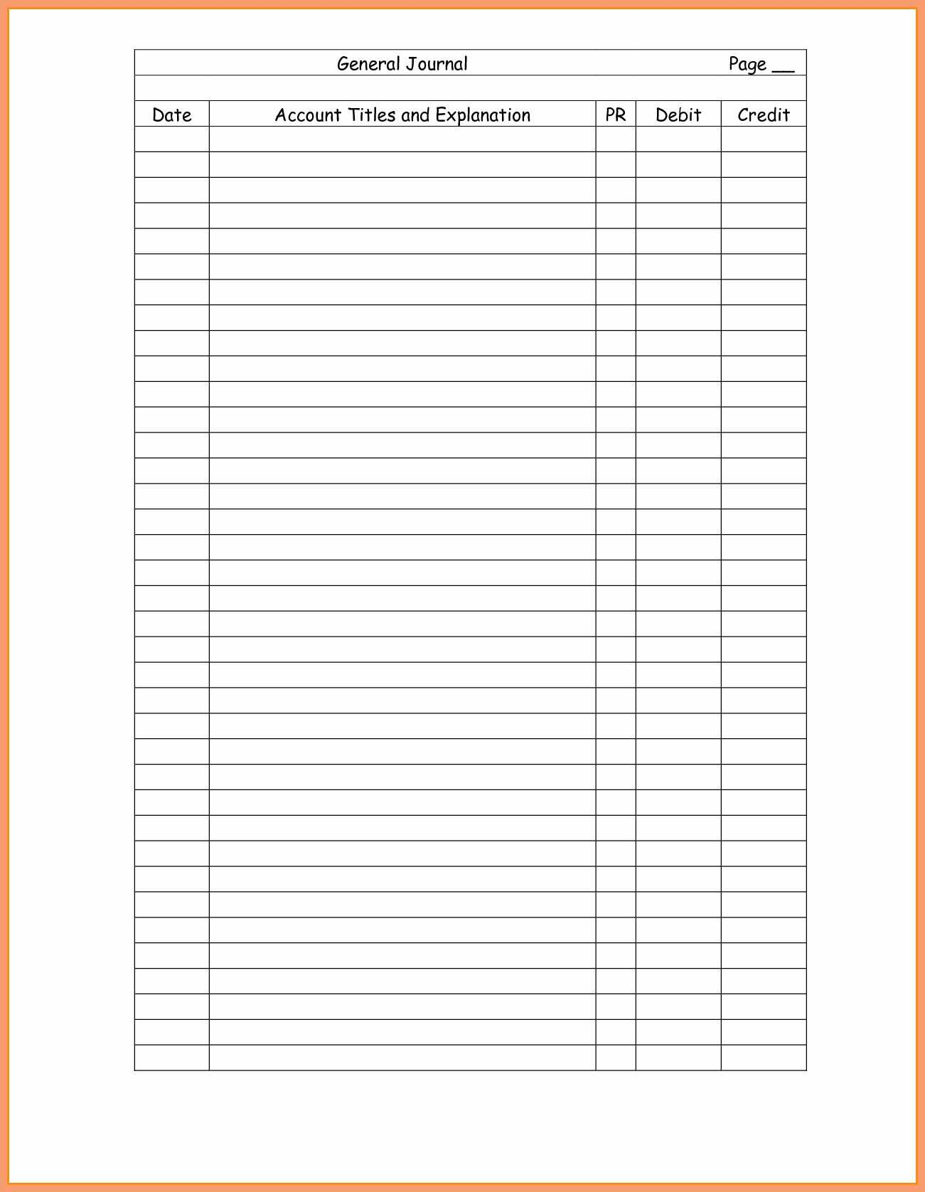 Double Entry Accounting Worksheet | Printable Worksheets And Throughout Double Entry Journal Template For Word