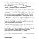 Editable Free Car Accident Release Of Liability Form Throughout Vehicle Accident Report Template