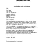 Editable Writing Dispute Letter Format Make A Habit 2019 in Credit Report Dispute Letter Template