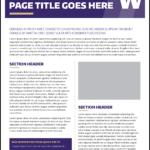 Fact Sheet   Uw Brand with Fact Sheet Template Word