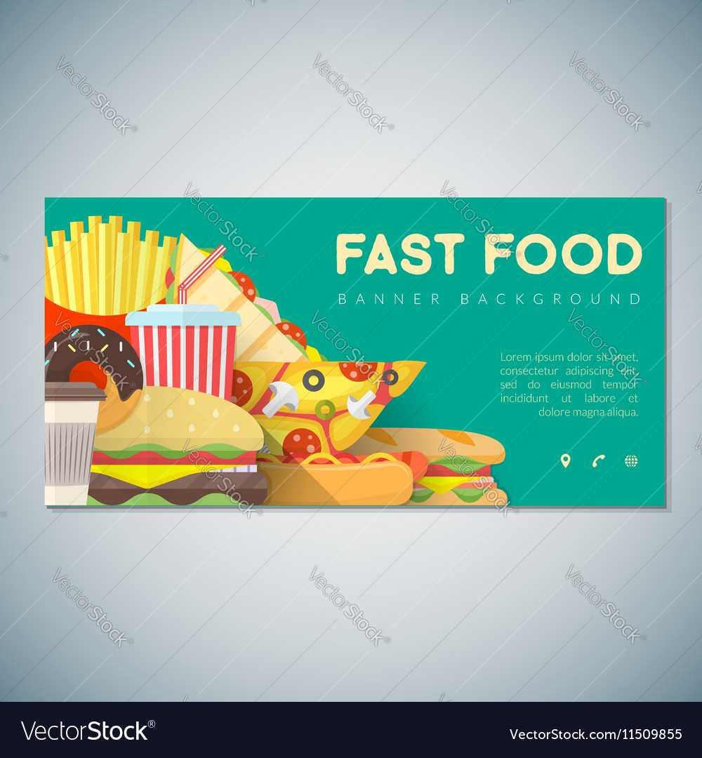 Fast Food Banner Backdrop Template Throughout Food Banner Template