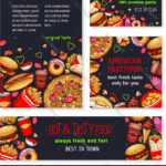 Fast Food Meal For Restaurant Banner Template Pertaining To Food Banner Template