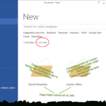 File New Variations In The Versions Of Microsoft Word With Word 2010 Template Location