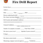 Fire Drill Report Template Uk - Fill Online, Printable within Emergency Drill Report Template