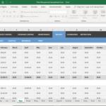 Fleet Management Spreadsheet Excel in Fleet Report Template