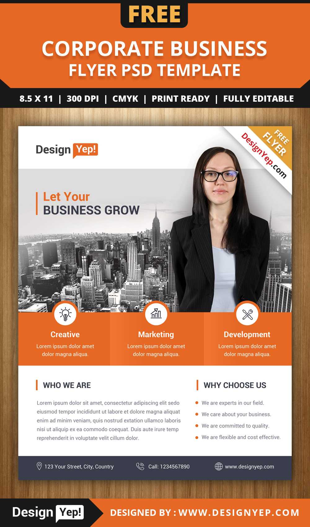 Flyer Lates Free Psd Business Brochure Photoshop Download Inside Free Business Flyer Templates For Microsoft Word