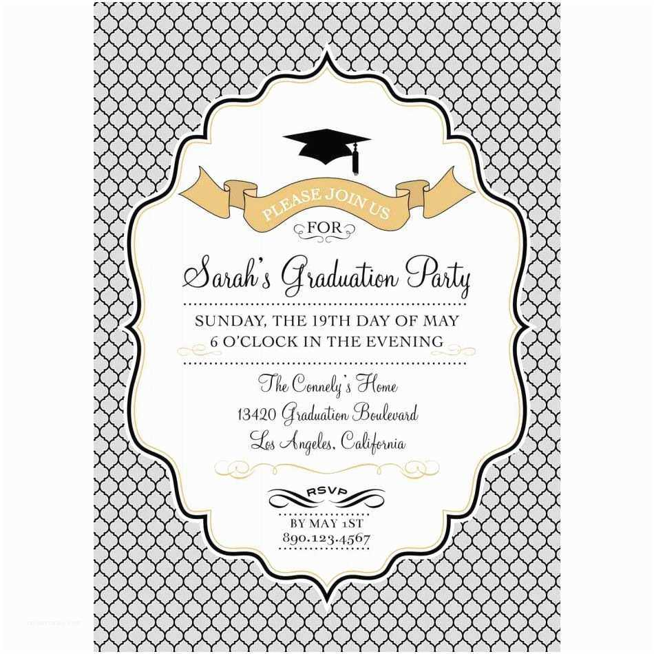 Free Graduation Party Invitation Templates For Word Intended For Graduation Party Invitation Templates Free Word