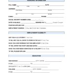 Free Job Application Form - Standard Template - Word | Pdf for Employment Application Template Microsoft Word
