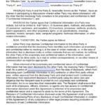 Free Mutual Non-Disclosure Agreement (Nda) | Pdf | Word (.docx) for Nda Template Word Document