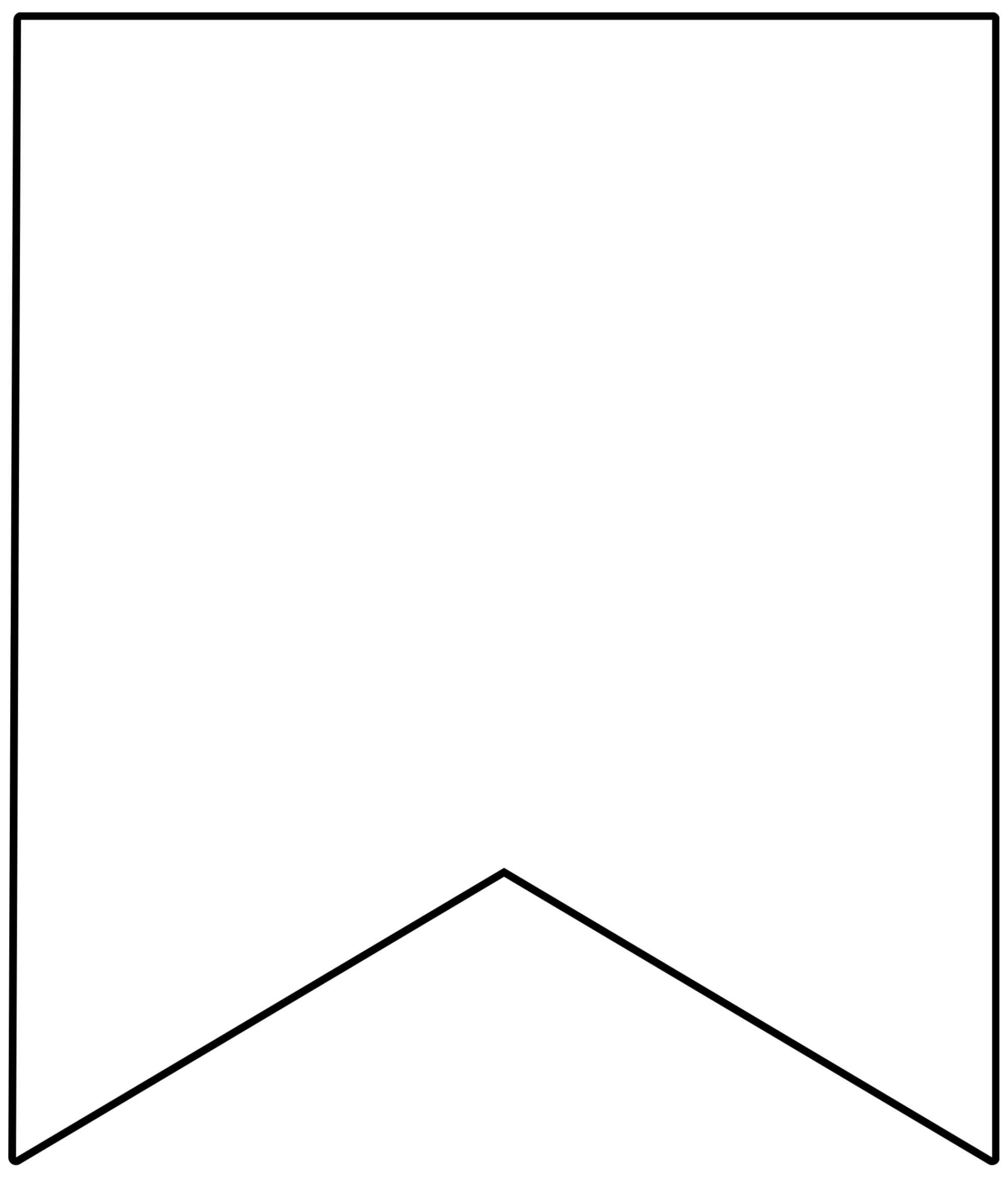 Free Printable Banner Templates {Blank Banners} - Paper With Regard To Free Printable Pennant Banner Template