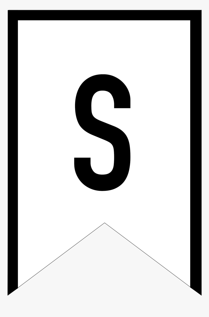 Free Printable Banner Templates – Letter S Banners, Hd Png For Letter Templates For Banners