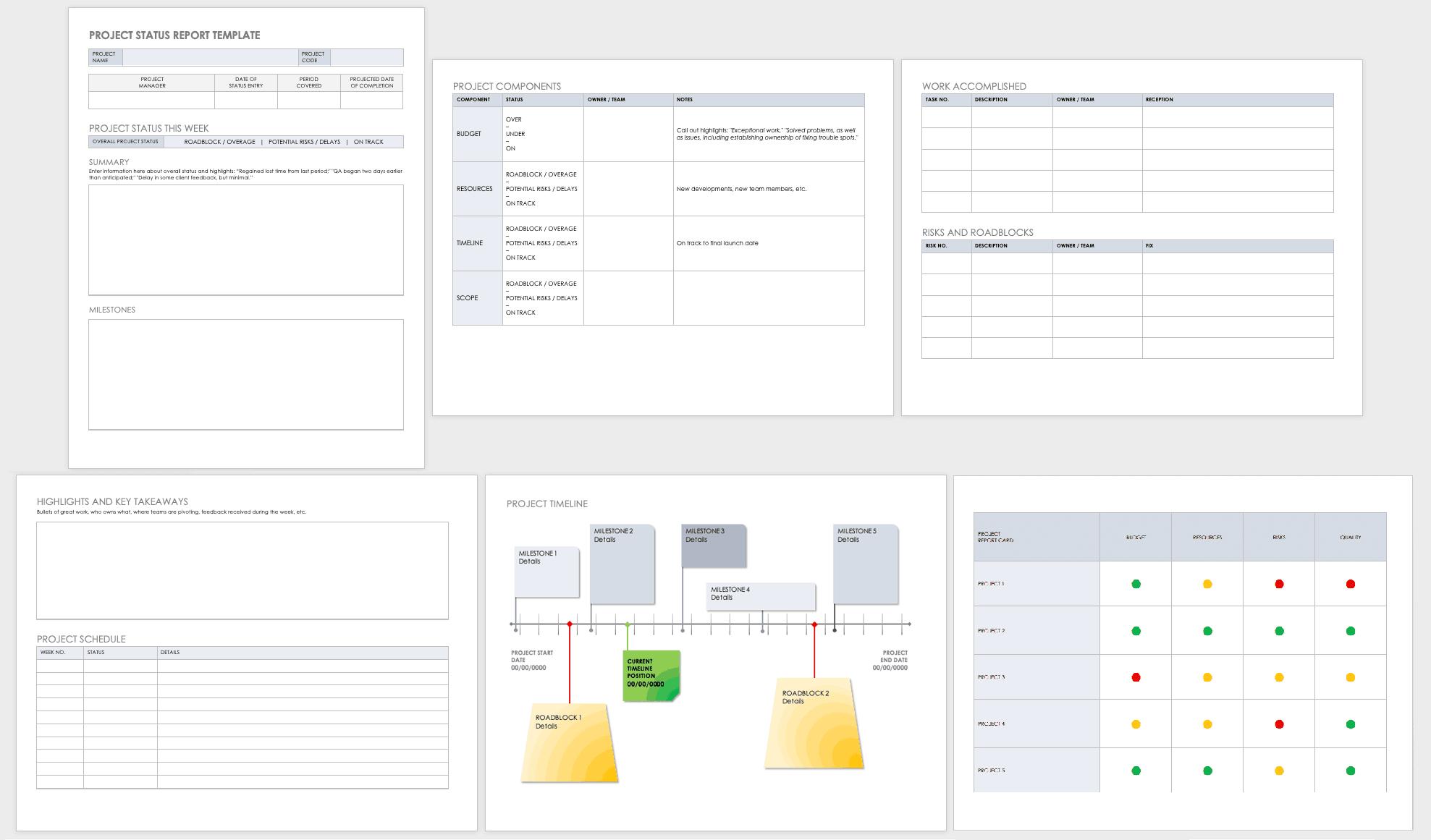 Free Project Report Templates | Smartsheet In Software Development Status Report Template