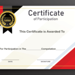 Free Sample Format Of Certificate Of Participation Template with regard to Certificate Of Participation Template Word