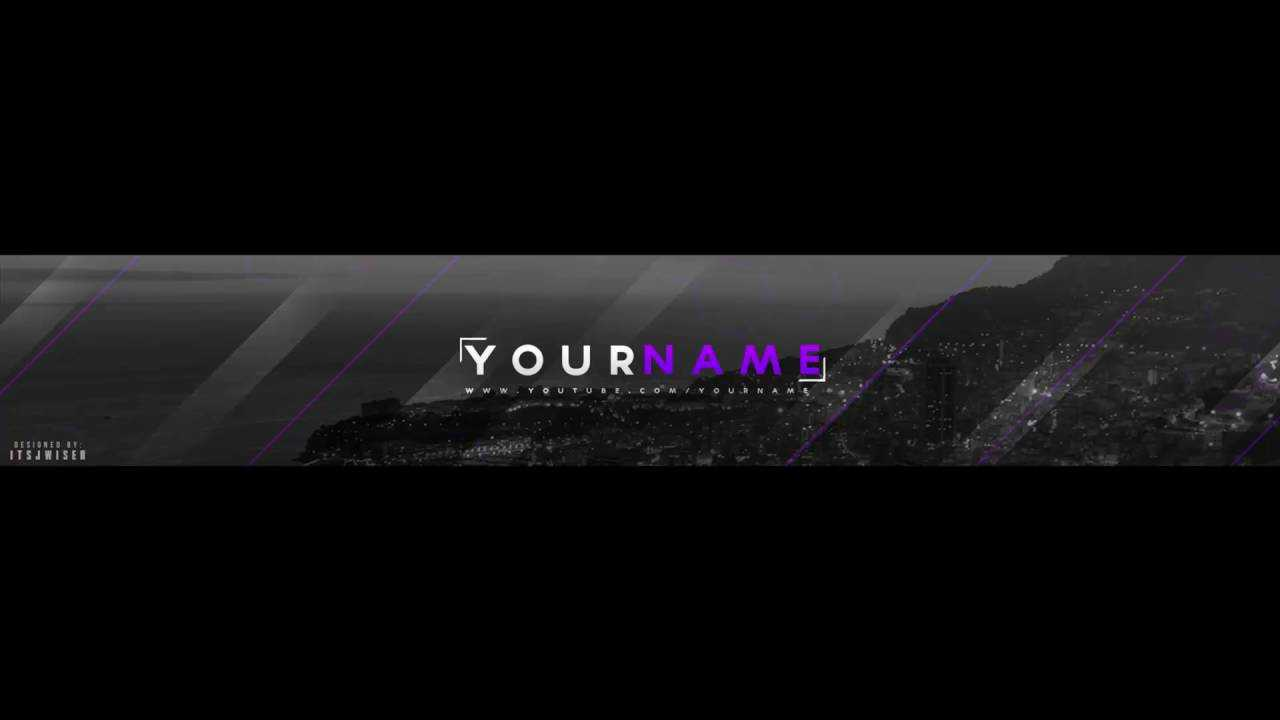 Free Youtube Banner Template(Adobe Photoshop)  By: Itsjwiser For Adobe Photoshop Banner Templates