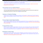 Future State Process Report Template in State Report Template