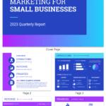 Gradient Business Marketing Quarterly Report Template For Social Media Marketing Report Template